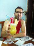 Enjoying a shake at the famous Banh mi phuong