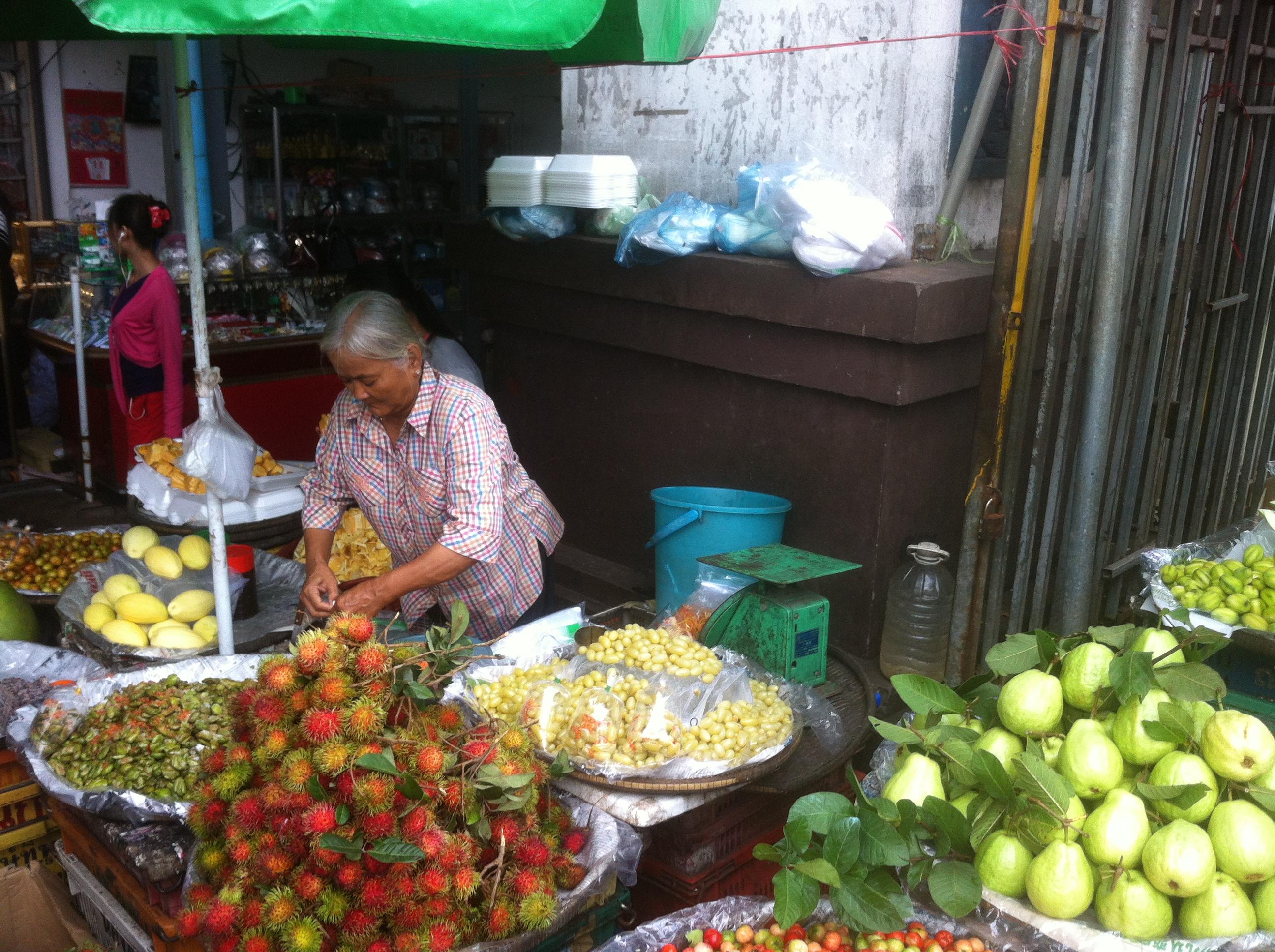local market, so colourful