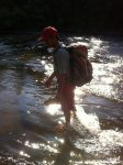 Sena testing the rapids