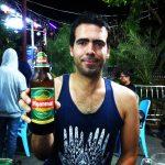 Phil's first taste of myanmare beer