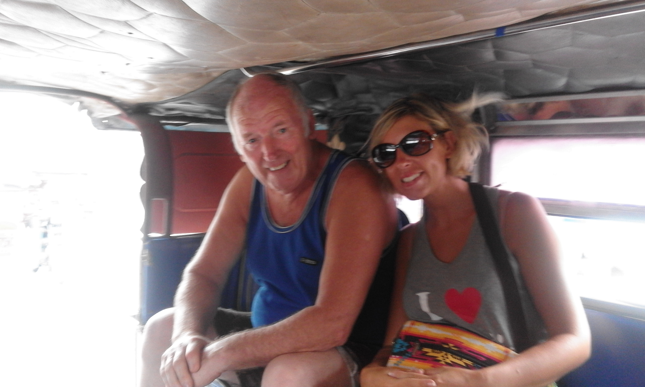 riding a jeepney in search of a dragon!